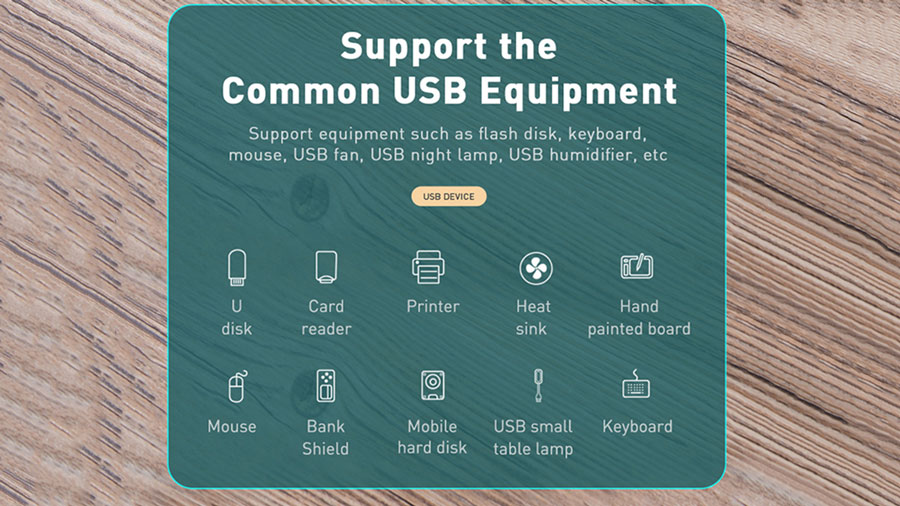 هاب یو اس بی بیسوس مدل BASEUS SQUARE ROUND 4 in 1 USB HUB Adapter (USB3.0 to USB3.0*1+USB2.0*3) 1m Cable قابلیت پشتیبانی از دستگاه های مختلف دارای یو اس بی