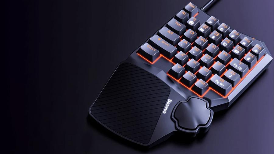 کیبورد مخصوص بازی بیسوس مدل GAMO One-Handed Gaming Keyboard GK01
