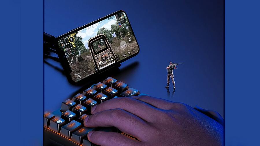 کنترل تک دستی کیبورد بیسوس مدل GAMO One-Handed Gaming Keyboard GK01