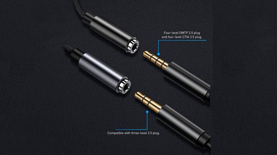 کابل تبدیل لایتنینگ به 3.5 میلیمتری بیسوس مدل Baseus iP Male to 3.5mm Female Adapter L3.5 سازگار با انواع استاندارد های 3.5 میلیمتری