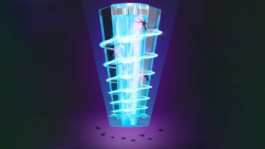 نابولدی کامل حشره ها با یک شوک الکتریکی توسط لامپ حشره کش بیسوس Baseus Linlon Outlet Mosquito Lamp