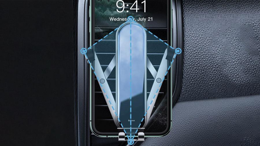 پایه های بسیار محکم نگهدارنده موبایل بیسوسPanguin Gravity PhoneHolder