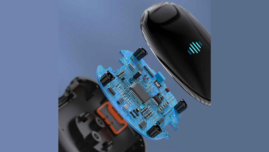 دانگل اچ دی ام آی بیسوس Baseus Meteorite Shimmer Wireless Display Adapter  دارای تراشه قدرتمند داخلی