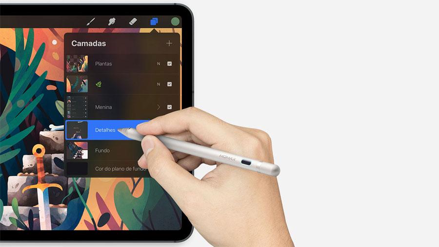 استفاده آسان از قلم لمسی مومکس مدل MOMAX TP1S One Link Active Stylus Pencil