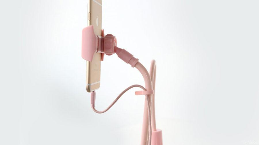 طراحی خلاقانه هولدر موبایل راک مدل ROCK 360º Rotating Flexible Long Arm Mobile Phone Holder II