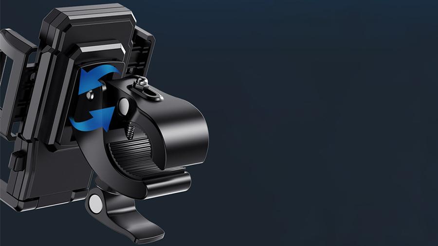 پایه نگهدارنده گوشی برای دوچرخه و موتورسیکلت راک ROCK Black Universal Bike Phone Mount دارای گیره محکم و قابلیت تظیم زاویه زانو به زاویه دلخواه