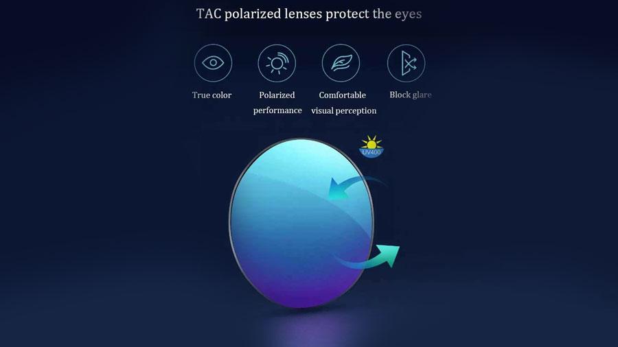 عینک آفتابی پولاریزه شیائومی Xiaomi Mijia Polarized Sunglasses دارای عدسی های پلاریزه برای محافظت از چشمان شما