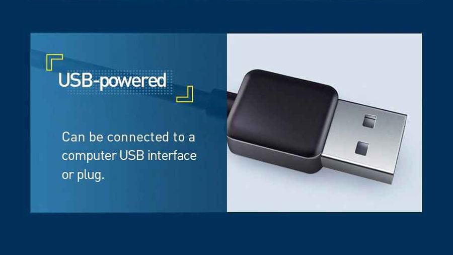 نوار ال ای دی چند رنگ بیسوس BASEUS 1.5M Cool Black USB Colorful Electronic دارای قابلیت تامین انرژی از طریق یو اس بی
