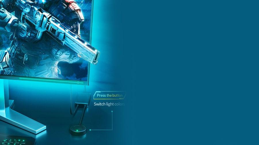 تغییر نور نوار ال ای دی چند رنگ بیسوس BASEUS 1.5M Cool Black USB Colorful Electronic با یک ضربه