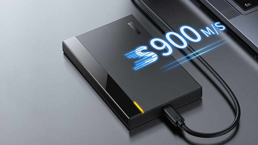 سرعت انتقال بالای باکس هارد اینترنال بیسوس  Baseus Full-speed Series 2.5 inch External HDD Enclosure