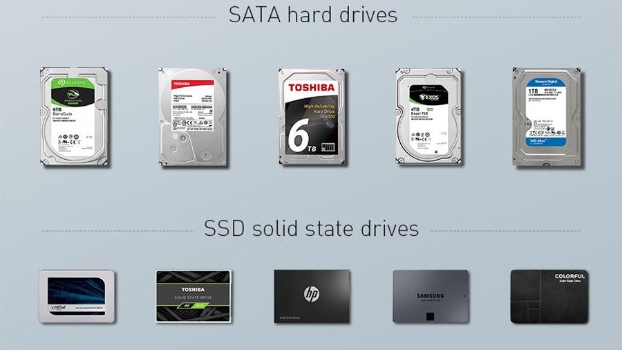 سازگار با هارد دیسک های مختلف