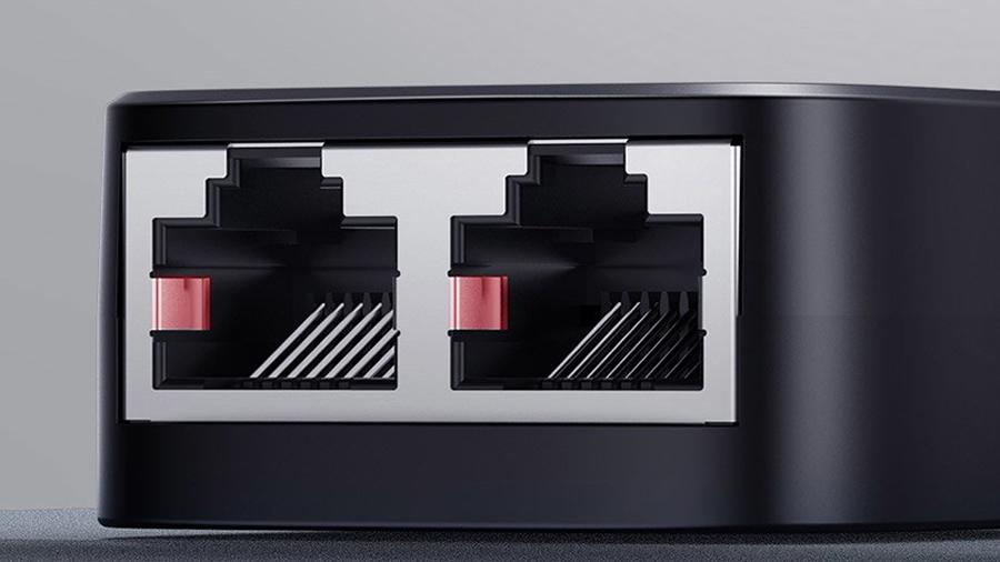 گیره هایی برای پورت های مبدل یک به دو شبکه بیسوس  Baseus High Speed 1 To 2 Network Splitter Adapter