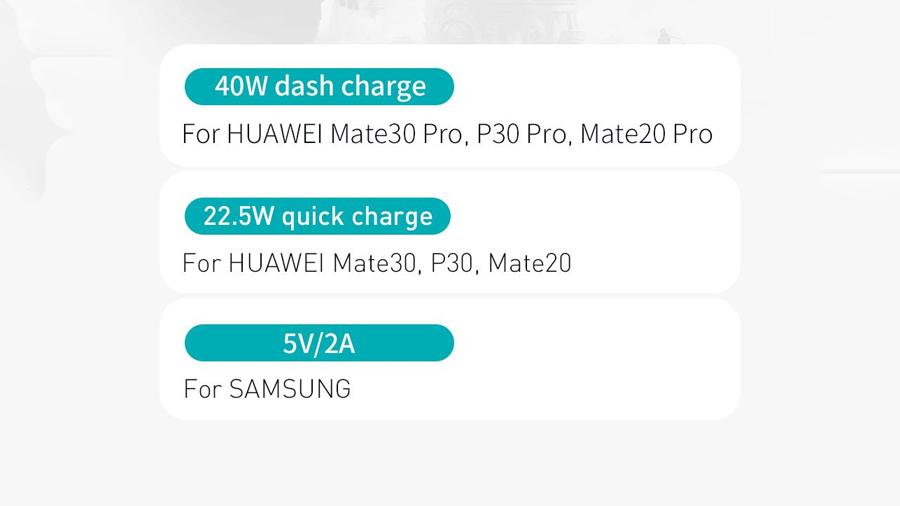 لیست گوشی های همراه سازگار با کابل شارژ دو متری تایپ سی بیسوس Baseus Iridescent Lamp HW Charge Mobile Game 2M