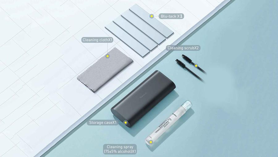 ست تمیزکننده لوازم الکترونیکی بیسوس BASEUS Portable Cleaning Set یک ست کامل