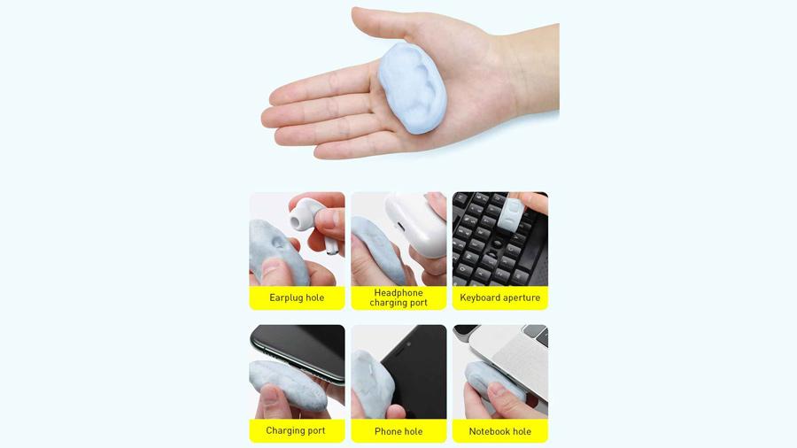ست تمیزکننده لوازم الکترونیکی بیسوس BASEUS Portable Cleaning Set دارای یک خمیر چسبی
