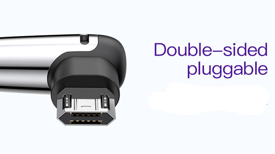 کابل شارژ دو متری میکرو یو اس بی مناسب گیمینگ بیسوس Baseus Sharp-bird Mobile Game cable micro USB 2M دارای کانکتور 2 جهته