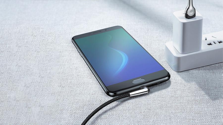 طراحی با کیفیت کابل شارژ دو متری میکرو یو اس بی مناسب گیمینگ بیسوس Baseus Sharp-bird Mobile Game cable micro USB 2M دارای نشانگر LED