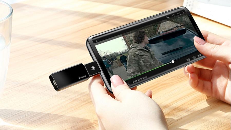 مبدل تایپ سی به یو اس بی بیسوس مدل Baseus Exquisite Type-C Male to USB Female OTG Adapter Converter سازگار با اغلب دستگاه های دارای تایپ سی