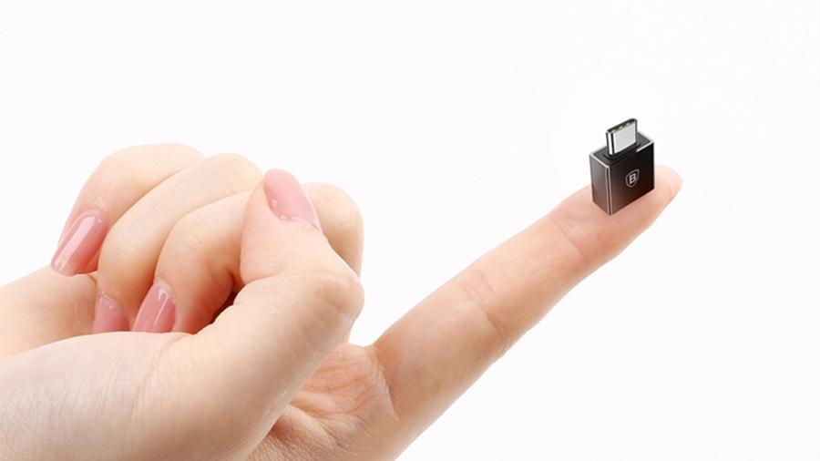 مبدل تایپ سی به یو اس بی بیسوس مدل Baseus Exquisite Type-C Male to USB Female OTG Adapter Converter بسیار کوچک و قابل حمل