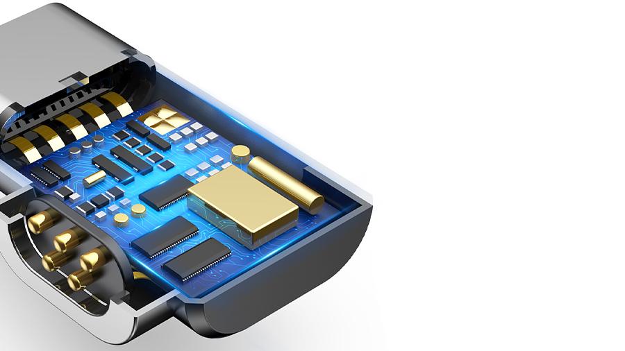 مبدل شارژ مغناطیسی تایپ سی به تایپ سی بیسوس مناسب مک بوک Baseus Type C To Type-C Magnetic Adapter Fast Charging دارای تراشه هوشمند