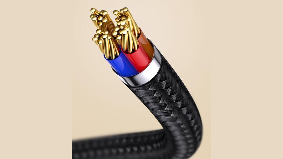 کابل شارژ و انتقال داده 1 متری آهنربایی میکرو یو اس بی بیسوس Baseus Zinc Magnetic Cable MicroUSB 1M قابلیت شارژ سریع