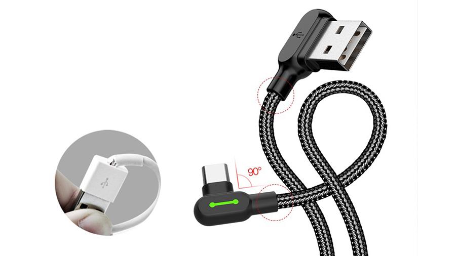کابل شارژ و انتقال دیتا 3 متری تایپ سی مک دودو MCDODO 90 Degree Light Cable Type-C 3M CA-528 دارای کیفیت ساخت بالا