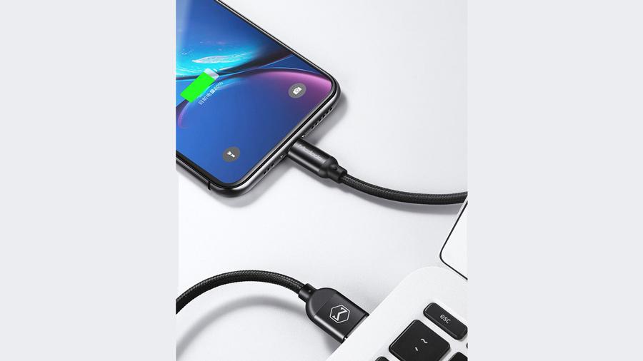 کابل شارژ و انتقال دیتا 1.2 متری لایتنینگ مک دودو MCDODO Data Cable For Lightning 1.2M CA-710 دارای قابلیت انتقال دیتا