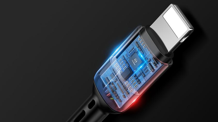 کابل شارژ و انتقال دیتا 1.8متری لایتنینگ مک دودو MCDODO Data Coiled Cable Lightning 1.8M CA-641 دارای تراشه کنترل هوشمند جریان