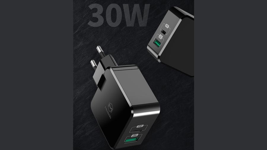 شارژر دیواری 30 وات دو پورت مک دودو MCDODO Dual Quick Charge 30W CH-692