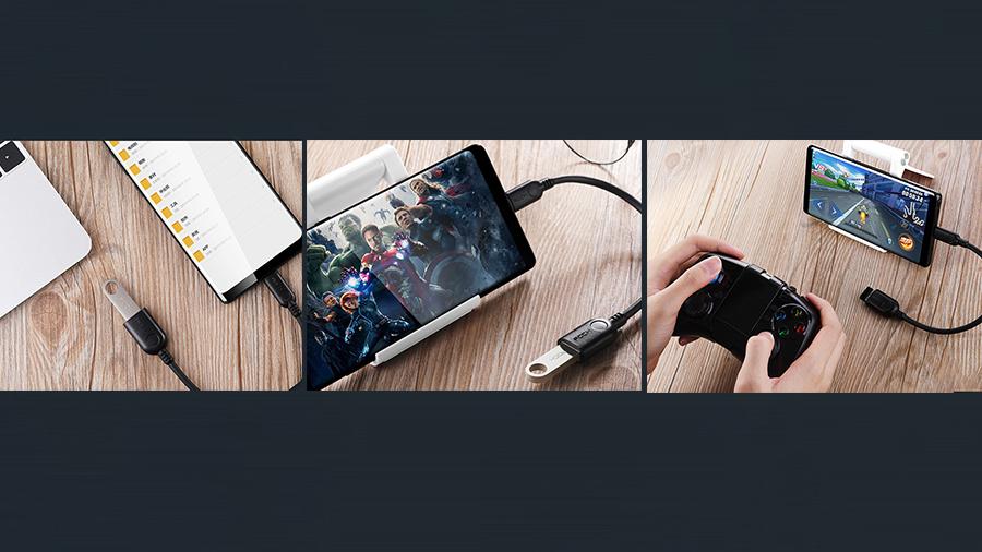 مبدل میکرو یو اس بی به یو اس بی 11 سانتی متری راک ROCK Micro USB  to USB 2.0 Adapter دارای کاربری آسان