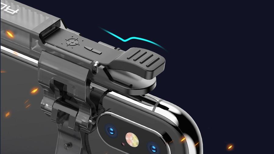 دسته بازی موبایل مخصوص PUBG راک  Rock Retractable Shooting Game Controller For PUBG دارای کیفیت ساخت بالا