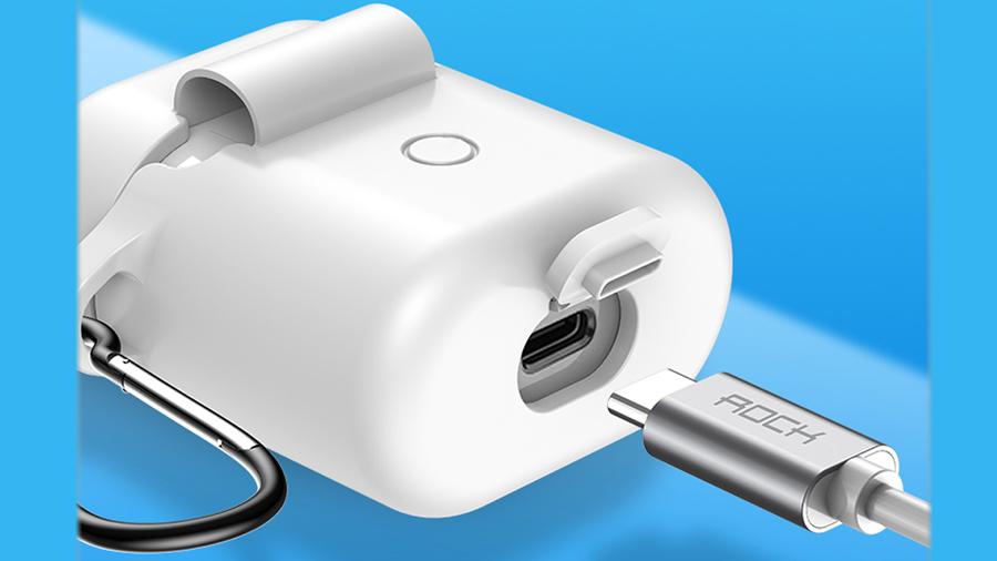 کیس محافظ سیلیکونی و بند نگهدارنده ایرباد هندزفری بیسیم راک ROCK Silicone Ear Phone Cases   دارای کیفیت ساخت بالا