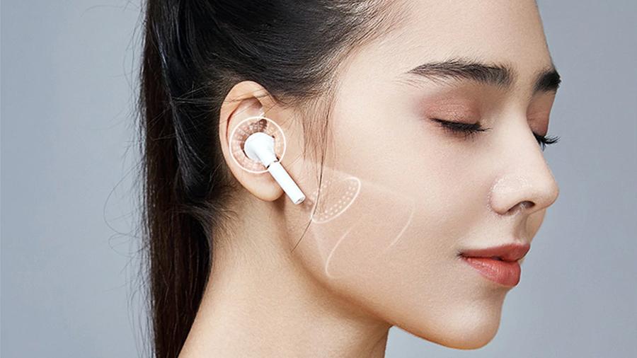 حذف نویز با چهار میکروفون توسط هندزفری بی سیم هايلو Haylou T19 True Wireless Earbuds