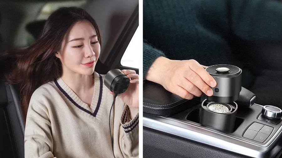 تصفیه کننده و خوشبو کننده هوای خودرو بیسوس Baseus Breez Fan Air  دارای حس طراوت فوق العاده