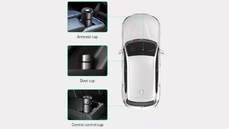 تصفیه کننده و خوشبو کننده هوای خودرو بیسوس Baseus Breez Fan Air  قابلیت استفاده در نقاط مختلف خودرو