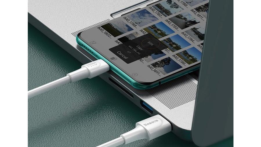 کابل شارژ سریع و انتقال داده تایپ سی بیسوس Baseus VOOC Fasr Cable Type-C 1M  دارای قابلیت انتقال داده