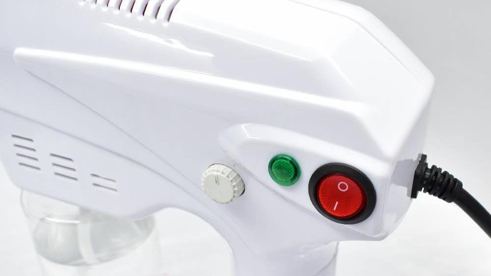 دستگاه هیدروژن رسان پوست و مو بلوری آنیون Blu-Ray Anion Nano Spray Gun دارای قابلیت تنظیم دما