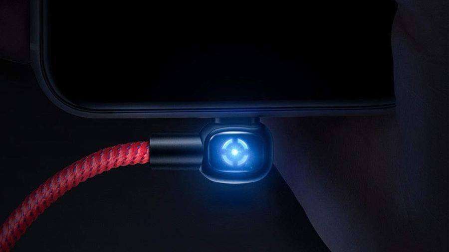 کابل شارژ و انتقال داده 1.8 متری لایتنینگ مک دودو MCDODO 90° Auto Power Off Lightning Data Cable 1.8M CA-5793 دارای نشانگر ال ای دی