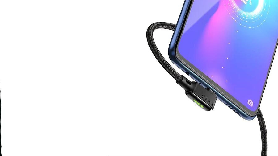 کابل شارژ سریع و انتقال داده 1.2 متری میکرو یو اس بی مک دودو MCDODO 90° MicroUSB Data Cable 1.2M CA-753