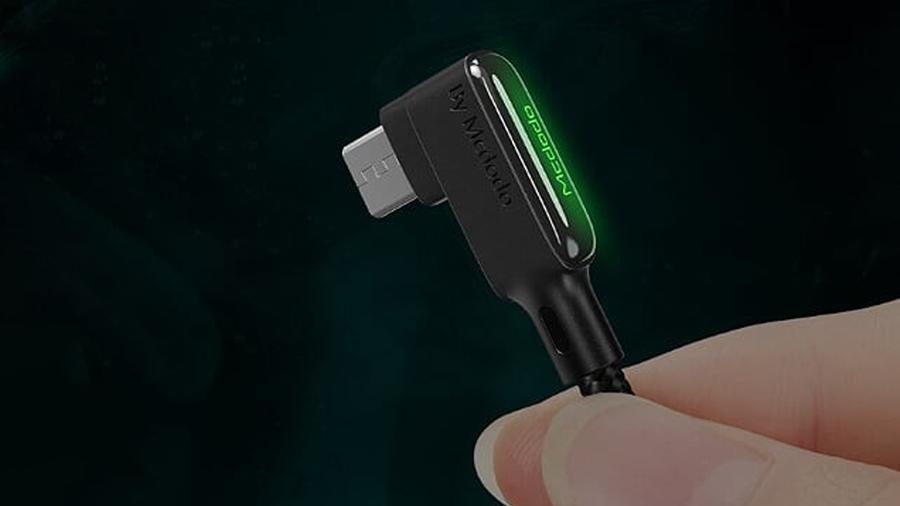 کابل شارژ سریع و انتقال داده 1.2 متری میکرو یو اس بی مک دودو MCDODO 90° MicroUSB Data Cable 1.2M CA-753 دارای نشانگر ال ای دی