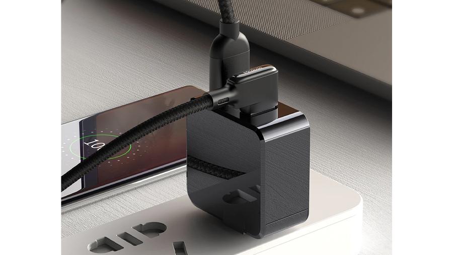 کابل شارژ سریع و انتقال داده 1.2 متری تایپ سی مک دودو Mcdodo 90° Type-C Data Cable 1.2M CA-752 دارای قابلیت شارژ سریع