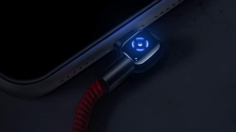 کابل شارژ و انتقال داده 1.5 متری تایپ سی مک دودو MCDODO 90° Auto Power Off Type-C Data Cable 1.5M CA-5923 دارای نشانگر LED