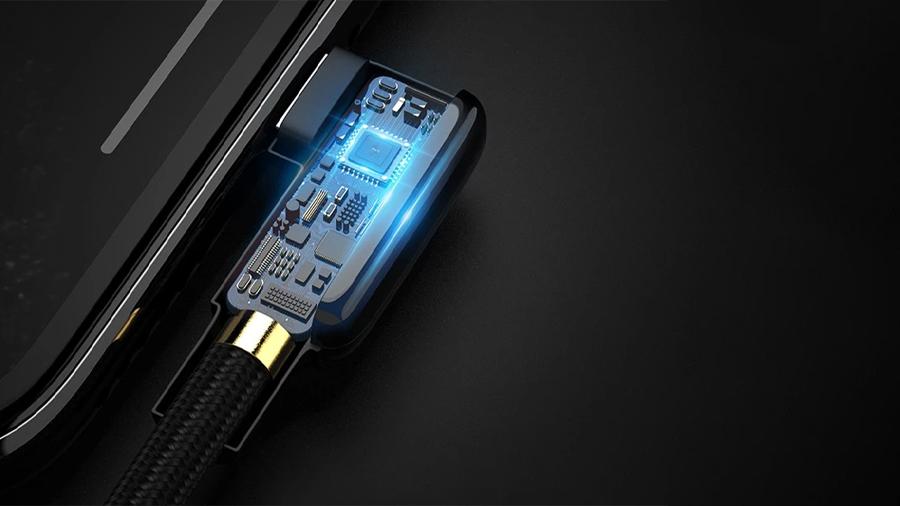 کابل شارژ سریع و انتقال داده 1.8 متری تایپ سی مک دودو Mcdodo 90° Type-C Data Cable 1.8M CA-752 دارای تراشه هوشمند کنترل