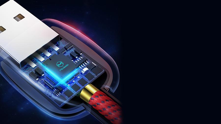 mcdodo-autopoweroff-microusb-150cm-ca593 دارای تراشه کنترل هوشمند