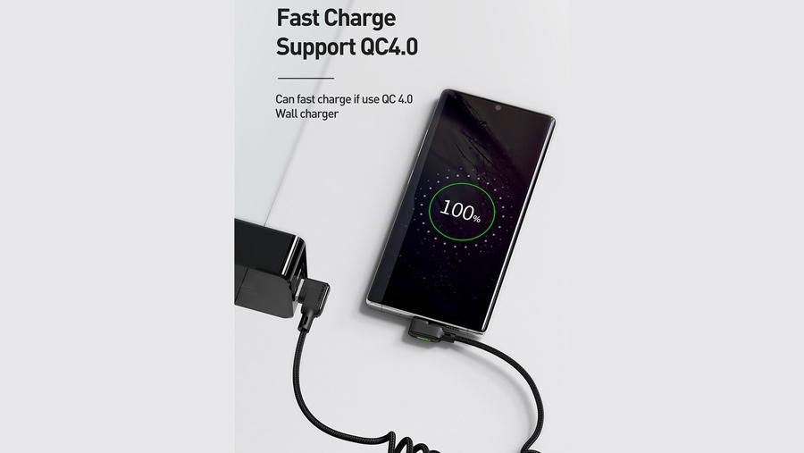 کابل شارژ و انتقال داده 1.8 متری فنری تایپ سی مک دودو MCDODO Data Coiled Cable Type-C 1.8M CA-731 دارای قابلیت شارژ سریع