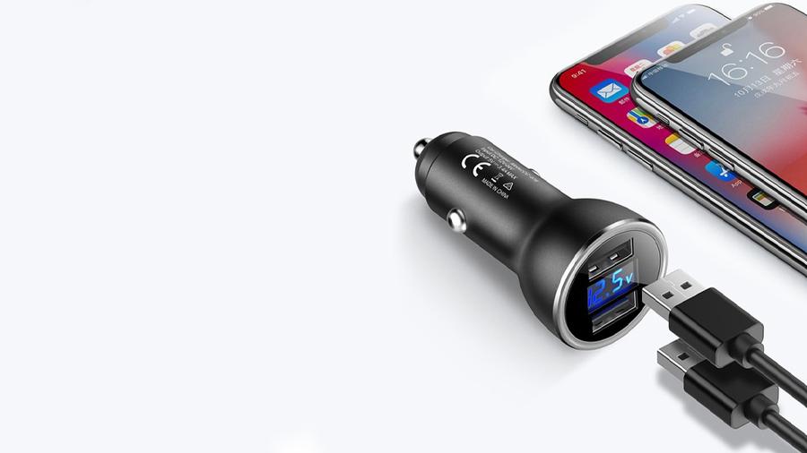 شارژر فندکی 2 پورت مک دودو MCDODO Dual USB Output Car Charger CC-674 قابلیت شارژ همزمان دو دستگاه