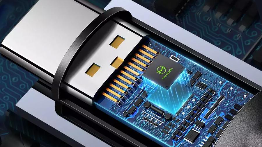 کابل شارژ سریع و انتقال داده تایپ سی مک دودو MCDODO Type-C Super Charger Data Cable 1.2M CA-6991 دارای تراشه کنترل هوشمند