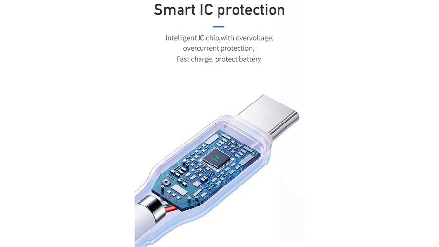 کابل شارژ سریع و انتقال داده تایپ سی مک دودو MCDODO Type-C Data Cable 1.2M CA-728 دارای تراشه کنترل هوشمند