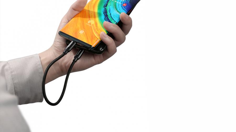 کابل شارژ سریع و انتقال داده 20 سانتی متری تایپ سی به تایپ سی مک دودو MCDODO Type-C to Type-C Fast PD 0.2M CA-714 کابل باکیفیت