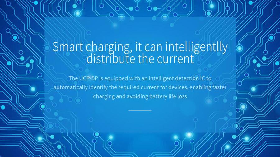 شارژر فندکی 5 پورت با قابلیت شارژ سریع اوریکو Orico UCP-5P Car charger دارای تراشه کنترل هوشمند